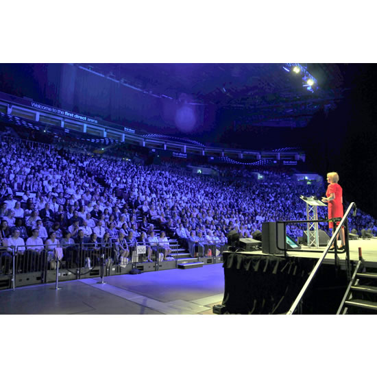 Debra Searle - First Direct Arena stage